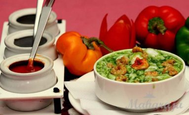 Green Pepper Prawns Soup